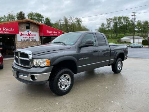 2004 Dodge Ram Pickup 2500 for sale at Twin Rocks Auto Sales LLC in Uniontown PA