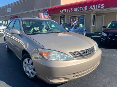2003 Toyota Camry for sale at Payless Motor Sales LLC in Burlington NC