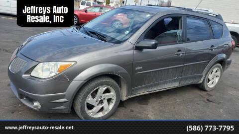 2005 Pontiac Vibe for sale at Jeffreys Auto Resale, Inc in Clinton Township MI