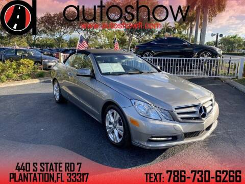 2012 Mercedes-Benz E-Class for sale at AUTOSHOW SALES & SERVICE in Plantation FL