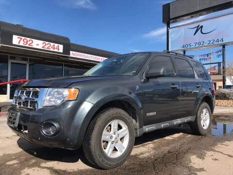 2008 Ford Escape Hybrid for sale at NORRIS AUTO SALES in Oklahoma City OK