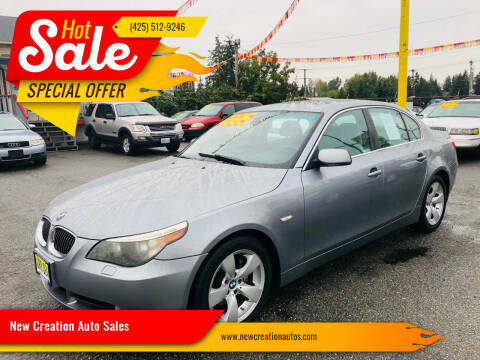 2007 BMW 5 Series for sale at New Creation Auto Sales in Everett WA