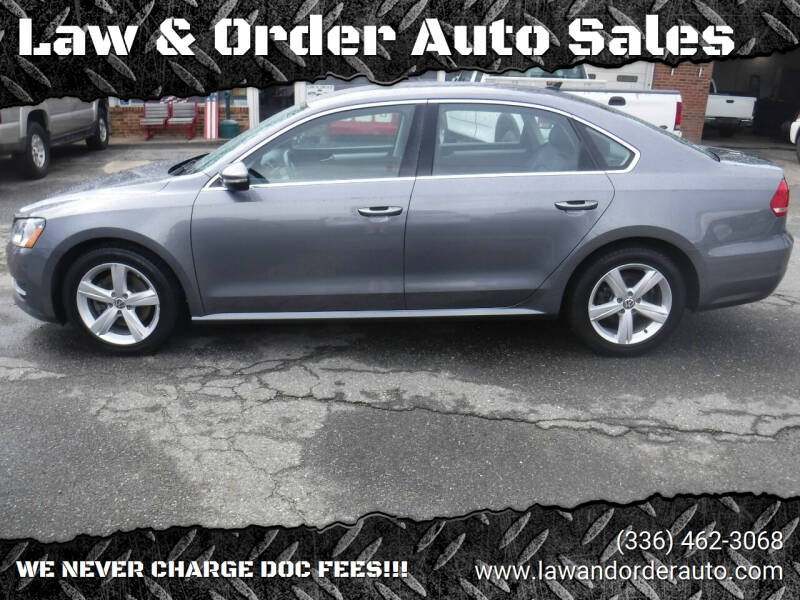 2012 Volkswagen Passat for sale at Law & Order Auto Sales in Pilot Mountain NC