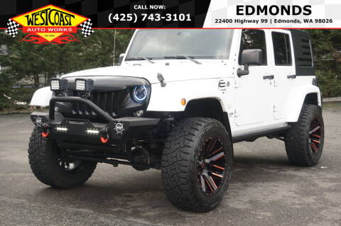 2015 Jeep Wrangler Unlimited for sale at West Coast Auto Works in Edmonds WA
