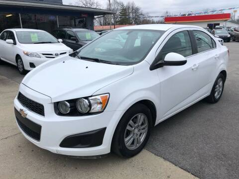 2016 Chevrolet Sonic for sale at Wise Investments Auto Sales in Sellersburg IN