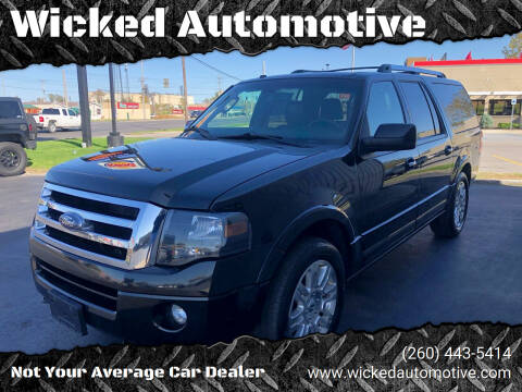 2013 Ford Expedition EL for sale at Wicked Automotive in Fort Wayne IN