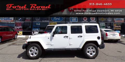 2014 Jeep Wrangler Unlimited for sale at Ford Road Motor Sales in Dearborn MI