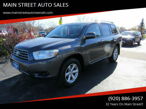 2008 Toyota Highlander for sale at MAIN STREET AUTO SALES in Neenah WI