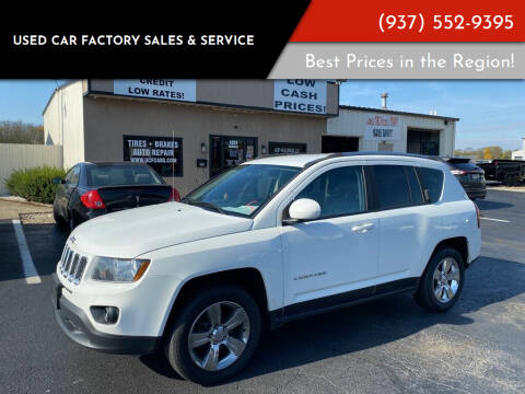 2014 Jeep Compass for sale at Used Car Factory Sales & Service Troy in Troy OH