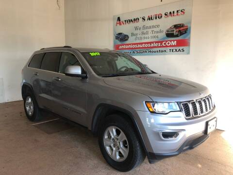 2017 Jeep Grand Cherokee for sale at Antonio's Auto Sales in South Houston TX