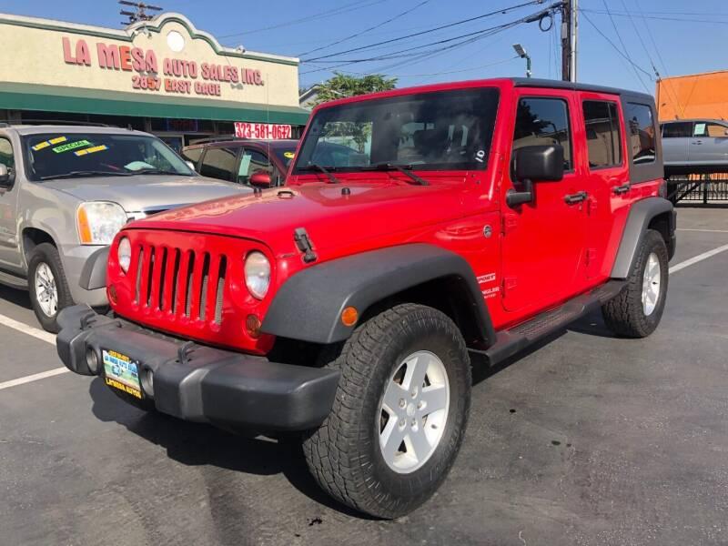 2010 Jeep Wrangler Unlimited for sale at La Mesa Auto Sales in Huntington Park CA