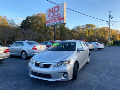 2011 Lexus CT 200h for sale at No Full Coverage Auto Sales in Austell GA