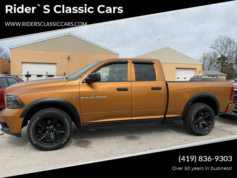 2012 RAM Ram Pickup 1500 for sale at Rider`s Classic Cars in Millbury OH