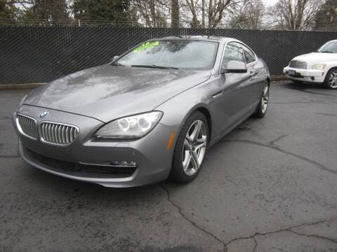 2012 BMW 6 Series for sale at LULAY'S CAR CONNECTION in Salem OR
