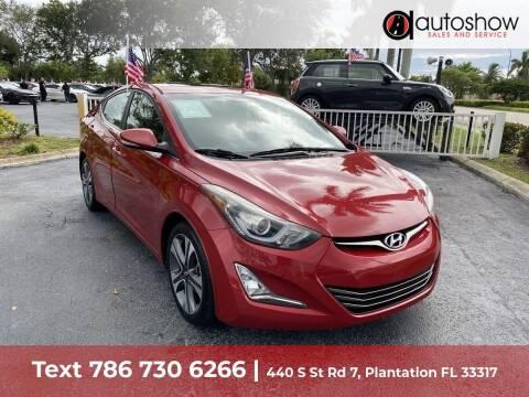 2015 Hyundai Elantra for sale at AUTOSHOW SALES & SERVICE in Plantation FL