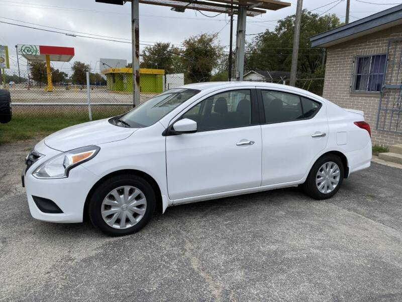 2015 Nissan Versa for sale at C&R  MOTORS in San Antonio TX