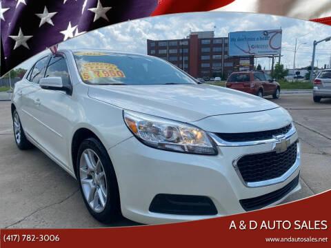 2014 Chevrolet Malibu for sale at A & D Auto Sales in Joplin MO