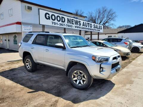 2019 Toyota 4Runner for sale at GOOD NEWS AUTO SALES in Fargo ND