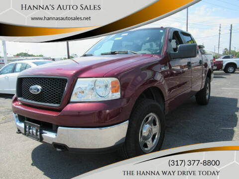 2005 Ford F-150 for sale at Hanna's Auto Sales in Indianapolis IN
