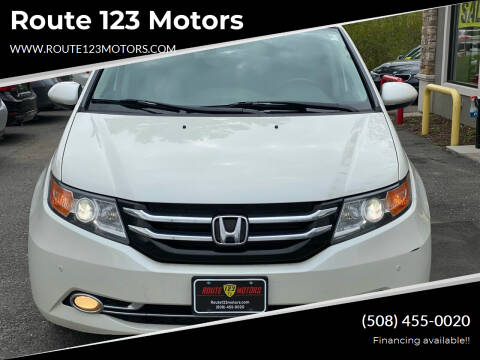 2014 Honda Odyssey for sale at Route 123 Motors in Norton MA
