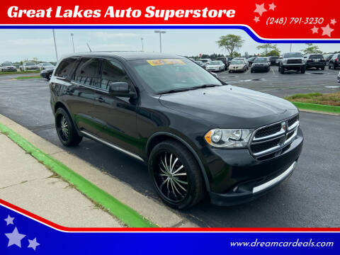 2011 Dodge Durango for sale at Great Lakes Auto Superstore in Waterford Township MI