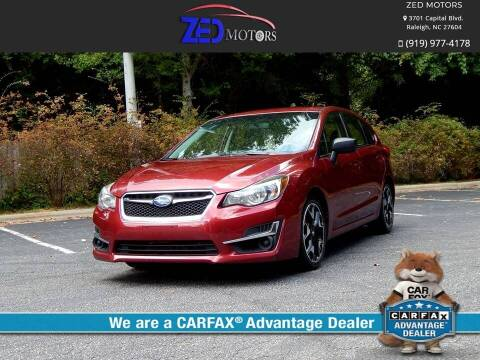 2015 Subaru Impreza for sale at Zed Motors in Raleigh NC