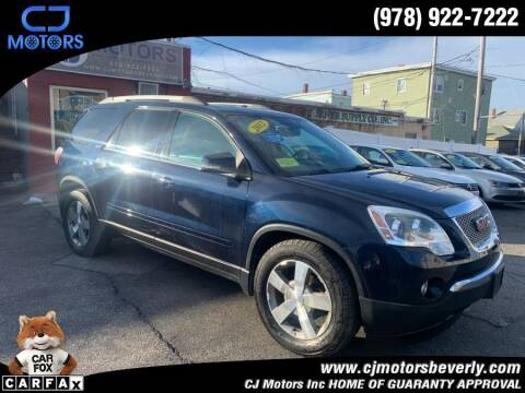 2012 GMC Acadia for sale at CJ Motors Inc. in Beverly MA
