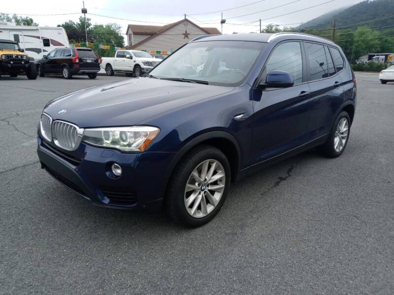 2015 BMW X3 for sale at Mulligan's Auto Exchange LLC in Paxinos PA