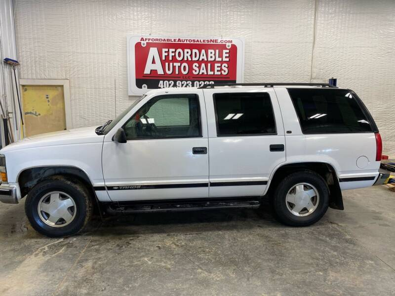 1999 Chevrolet Tahoe for sale at Affordable Auto Sales in Humphrey NE