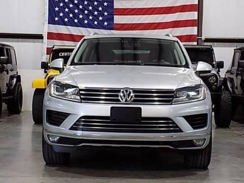 2015 Volkswagen Touareg for sale at Texas Motor Sport in Houston TX