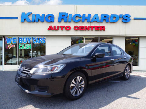 2014 Honda Accord for sale at KING RICHARDS AUTO CENTER in East Providence RI