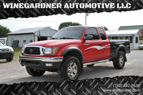 2002 Toyota Tacoma for sale at WINEGARDNER AUTOMOTIVE LLC in New Lexington OH