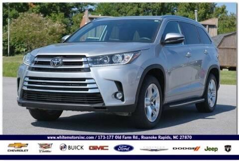 2019 Toyota Highlander for sale at WHITE MOTORS INC in Roanoke Rapids NC