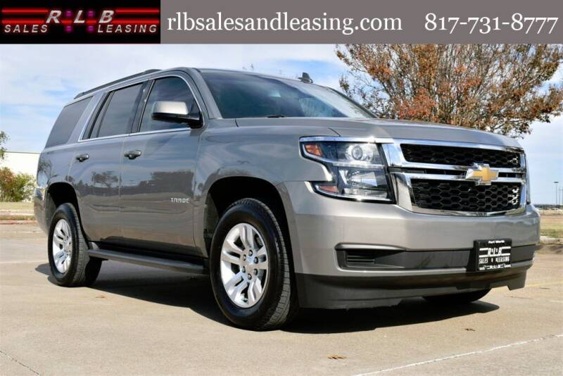 2019 Chevrolet Tahoe for sale at RLB Sales and Leasing in Fort Worth TX