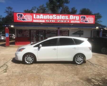 2012 Toyota Prius v for sale at LA Auto Sales in Monroe LA