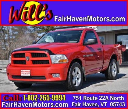 2012 RAM Ram Pickup 1500 for sale at Will's Fair Haven Motors in Fair Haven VT
