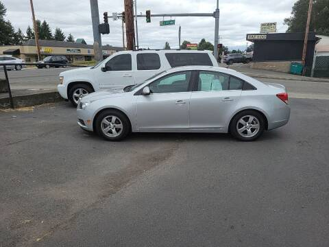 2013 Chevrolet Cruze for sale at Bonney Lake Used Cars in Puyallup WA