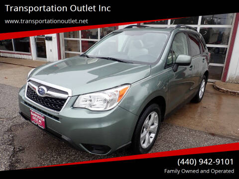 2015 Subaru Forester for sale at Transportation Outlet Inc in Eastlake OH
