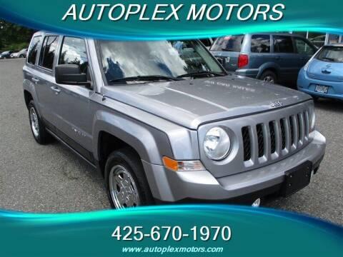 2016 Jeep Patriot for sale at Autoplex Motors in Lynnwood WA
