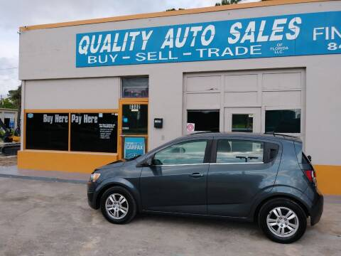 2013 Chevrolet Sonic for sale at QUALITY AUTO SALES OF FLORIDA in New Port Richey FL