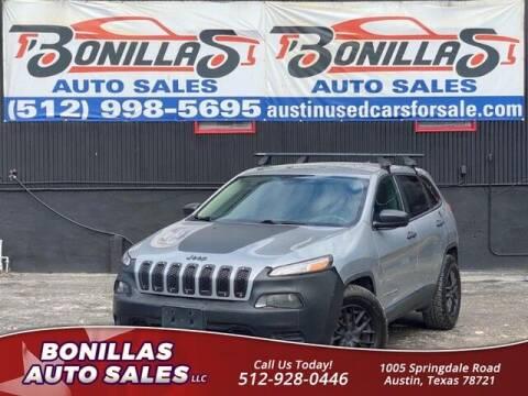 2015 Jeep Cherokee for sale at Bonillas Auto Sales in Austin TX
