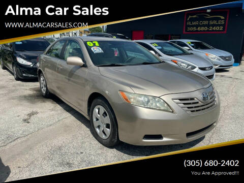 2007 Toyota Camry for sale at Alma Car Sales in Miami FL