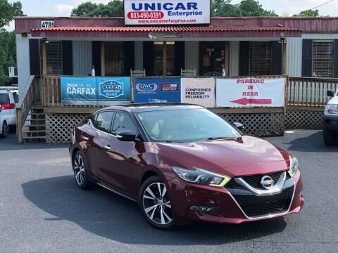 2016 Nissan Maxima for sale at Unicar Enterprise in Lexington SC
