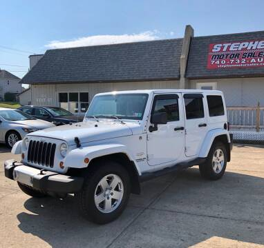 2011 Jeep Wrangler Unlimited for sale at Stephen Motor Sales LLC in Caldwell OH