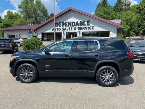 2017 GMC Acadia for sale at Dependable Auto Sales and Service in Binghamton NY