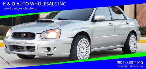 2004 Subaru Impreza for sale at K & O AUTO WHOLESALE INC in Jacksonville FL
