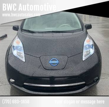 2012 Nissan LEAF for sale at BWC Automotive in Kennesaw GA