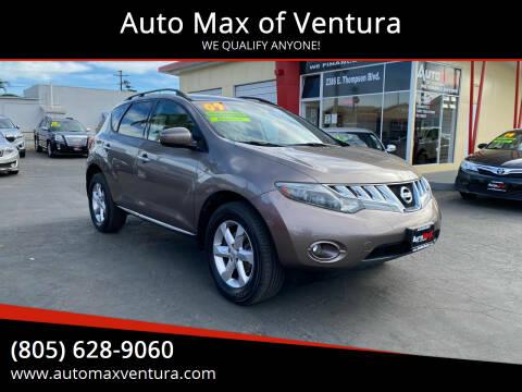 2009 Nissan Murano for sale at Auto Max of Ventura in Ventura CA