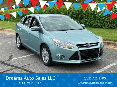 2012 Ford Focus for sale at Dreams Auto Sales LLC in Leesburg VA