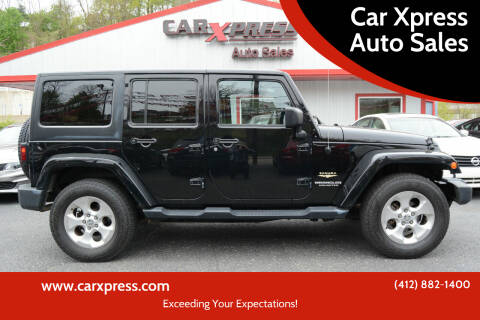 2015 Jeep Wrangler Unlimited for sale at Car Xpress Auto Sales in Pittsburgh PA